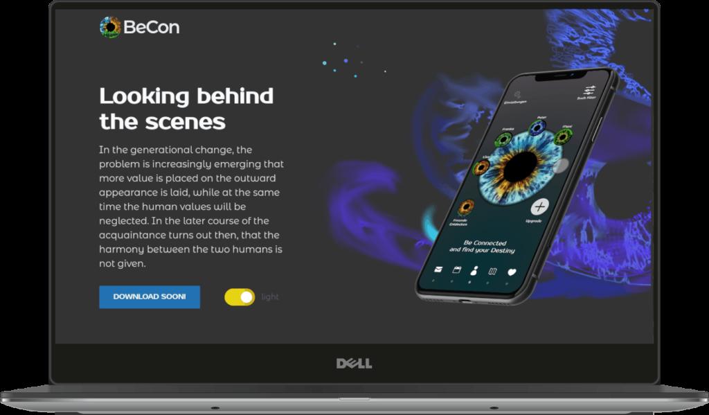 Becon-app-webdesign